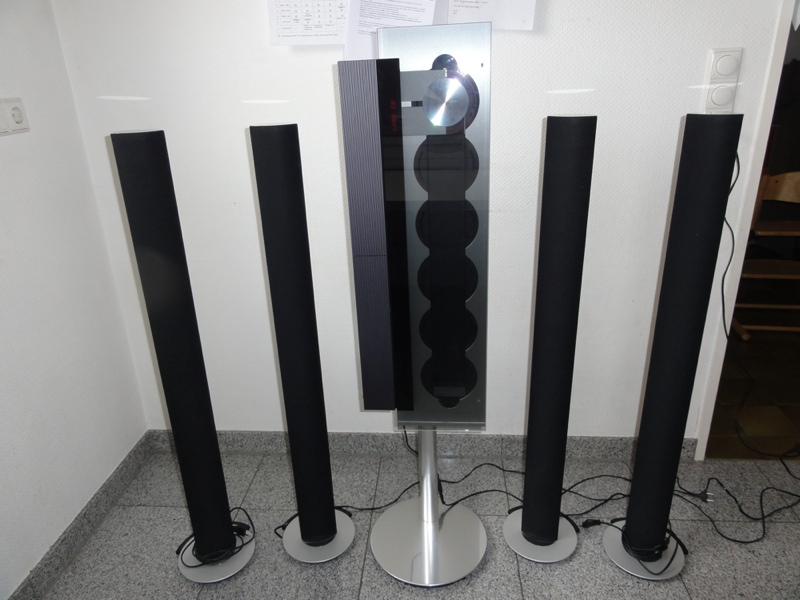 bang olufsen beosound 9000 mit 4x beolab 6000 und stand ebay. Black Bedroom Furniture Sets. Home Design Ideas